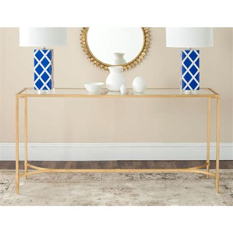 gold glass console table monarch specialties cappuccino console table i 2450 the