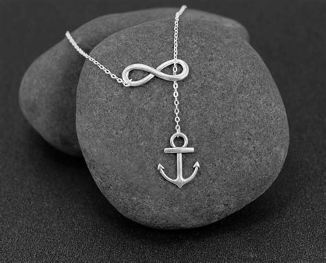 infinity and anchor necklace anchor infinity necklace 5 48 shipped