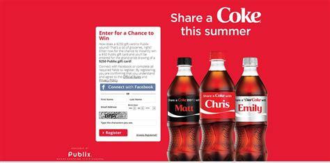 Publix Gift Card Promotion - share a coke promotion this summer at publix up to 250 in publix gift cards