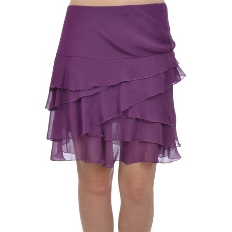 Pleated Chiffon Mini Skirt womens pleated chiffon style summer mini