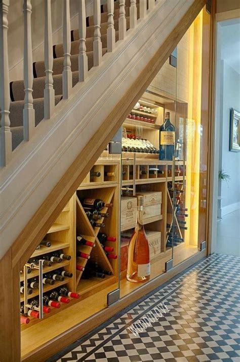 under stairs wine storage wine storage under staircase wine cellar pinterest
