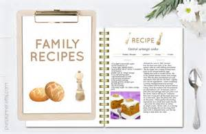 recipe templates for pages printable editable recipe pages recipe book template recipe