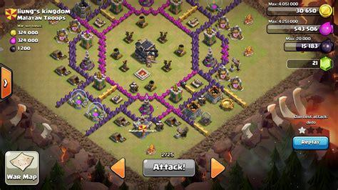 layout coc th 8 untuk war base war terbaik dan terkuat town hall level 9 untuk war
