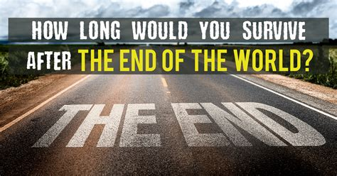 Pdf How Survive End World by How Would You Survive After The End Of The World
