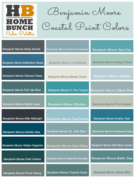 coastal paint colors popular paint color and color palette ideas home bunch
