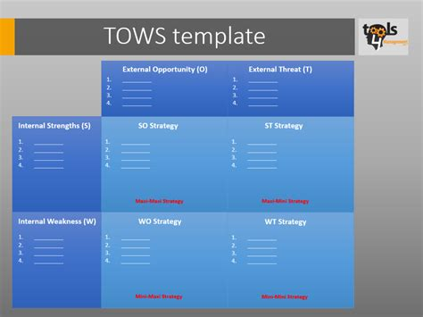 what template is this 187 archive tows template tools4management