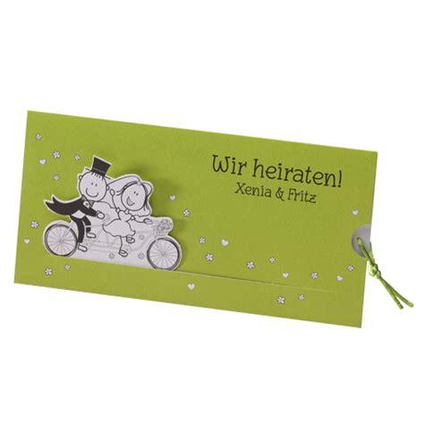 Hochzeitseinladung Motorrad by Hochzeitskarte Fahrradtour Mit Brautpaar Auf Einem Tandem