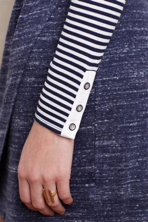 Dress Kp Stripe Black White 081265 lyst dolan marina striped dress blue in gray