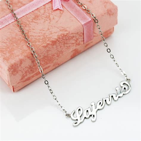 S925 Necklace silver s925 silver personalized name necklace lajerrio