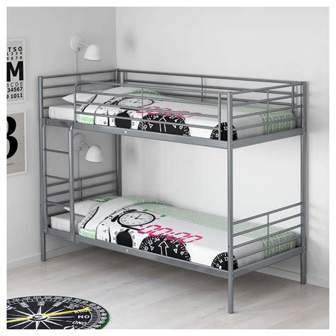 Sv 196 Rta Bunk Bed Frame Silver Colour 90x200 Cm Ikea Ikea Silver Bunk Bed