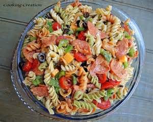 cooking creation italian pasta salad with pepperoni amp red