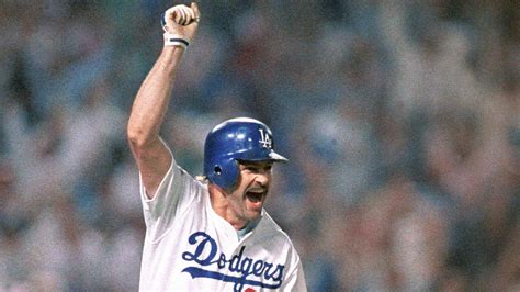 history 25th anniversary of los angeles dodger kirk