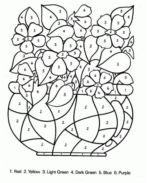 Free Printable Color By Number Coloring Pages   Coloring Home