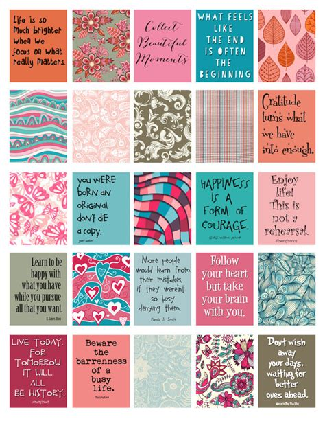 free printable planner quotes quotes to live by stickers for life planner printable digital