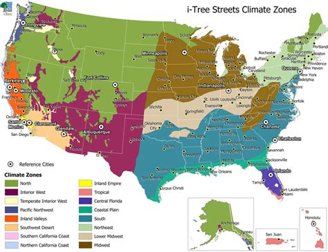 climate map of western united states i tree archives