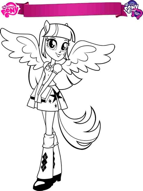 My Little Pony Equestria Girl Twilight Sparkle Coloring Pages My Pony Equestria Coloring Pages Twilight Sparkle