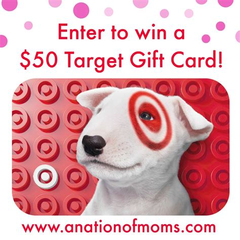 Target Gift Card Sweepstakes - 50 target gift card giveaway a nation of moms