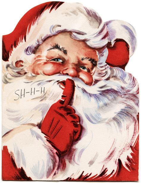santa s old design shop free printable vintage santa card
