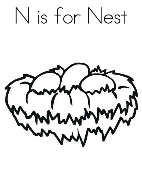 bird nest eggs coloring page n is for bird nest coloring pages n is for bird nest