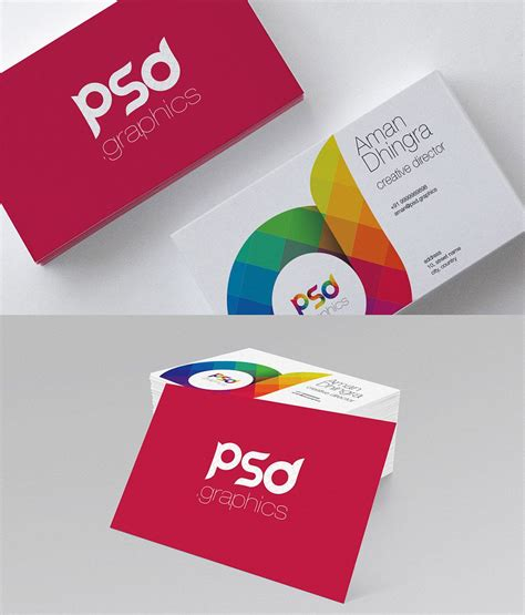 card free creative creative business card free psd graphics