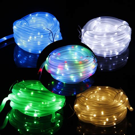 39 4ft Solar Power Rope String Light 100 Led Fairy Tube Rope String Lights