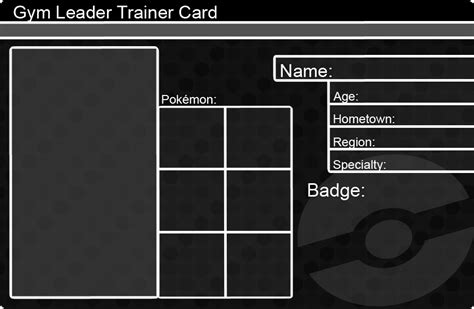 master trainer card template leader trainer card template by khfant on deviantart