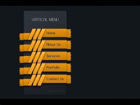 design menu tutorial photoshop tutorial web design ribbon vertical menu youtube