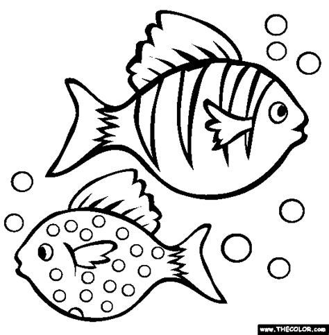 multiple fish coloring page pets online coloring pages page 1