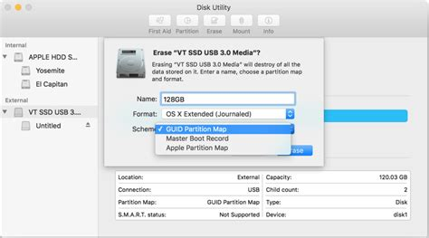 format new hard drive mac disk utility how to format a startup drive in el capitan macworld