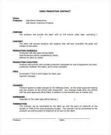 production contract templates 9 free word pdf format