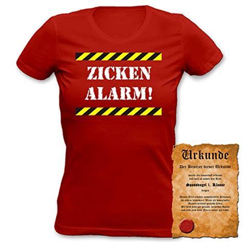 T Shirt Motif Garis t shirt motiv zickenalarm plus gratis urkundeknallrotes
