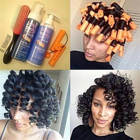 stranded rods hairstyle 45 best flexi rods images on pinterest natural hair