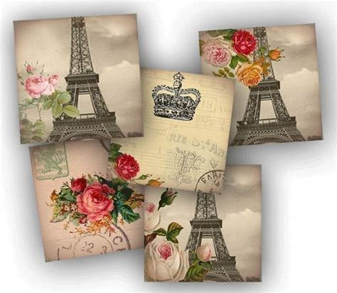 Decoupage Collage Ideas - laminas vintage para decoupage vintage