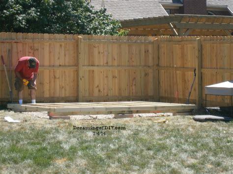 backyard shed foundation backyard shed project dreamingofdiy