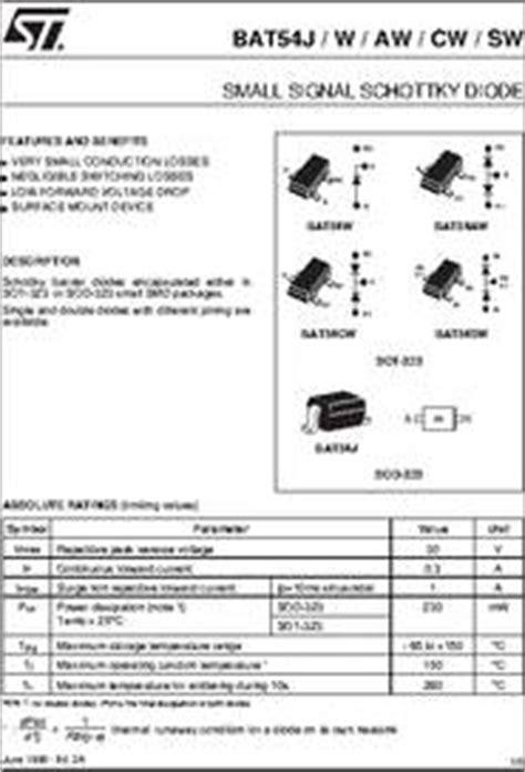schottky transistor bc337 bat54j datasheet small signal schottky diode