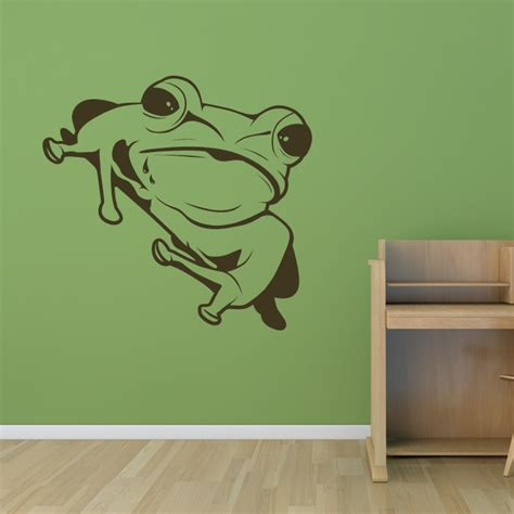 frog wall stickers sitting frog animals wall decals wall stickers