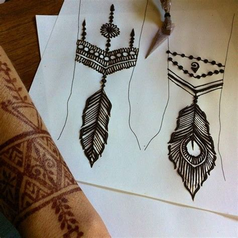 henna tattoos broadway at the beach i ve been working out new feather designs for the thursday