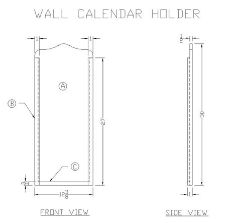 Calendar Holder For Wall How To Make A Wooden Wall Calendar Holder From S Wood
