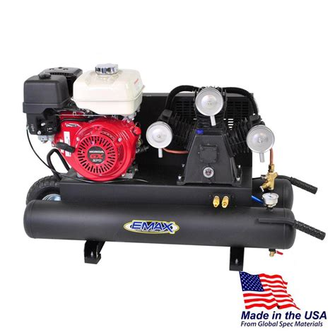 emax 10 gal 9 hp portable gas wheelbarrow air compressor with honda gx270 engine eges09010wy