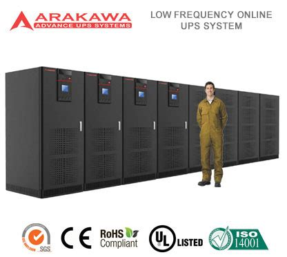 Ups Arakawa On Line Mp98a 120kva arakawa ups systems mp98a low frequency ups 120 3000kva mp98a 1600kva 12p pusat