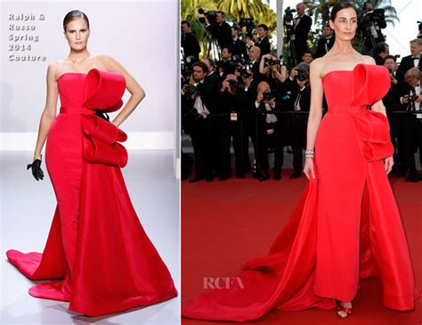 Catwalk To Carpet Erin Oconnor In Marchesa by Erin O Connor In Ralph Russo Couture Carol Cannes