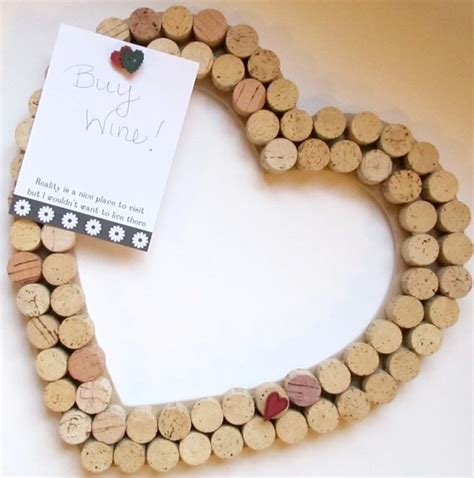 Heart Shaped Vase With Cork Diy Holiday Gifts Wine Cork Boards