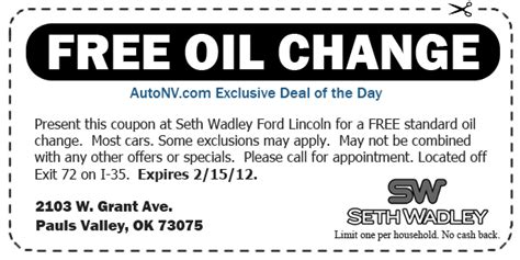 ford coupons for change ford change coupons synthetic