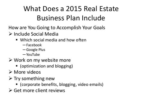 sle business plan real estate agent why real estate agents need business plans 2015