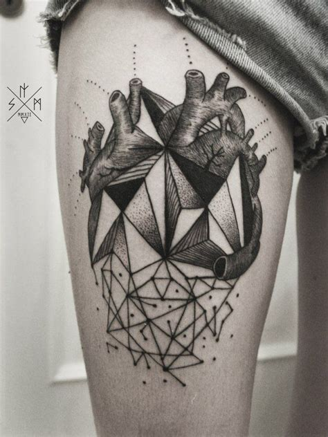 geometric heart tattoo 17 best images about dots lines and geometric