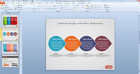 ppt templates free download unique free creative timeline powerpoint template