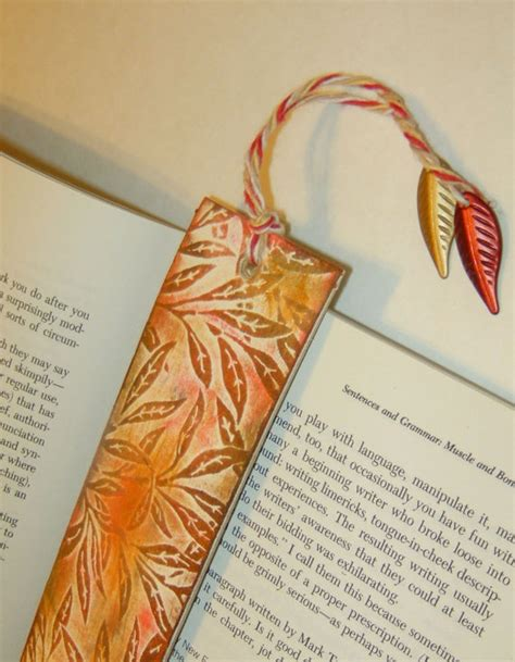 Handmade Bookmark Ideas - bookmark fall autumn handmade embossed with by