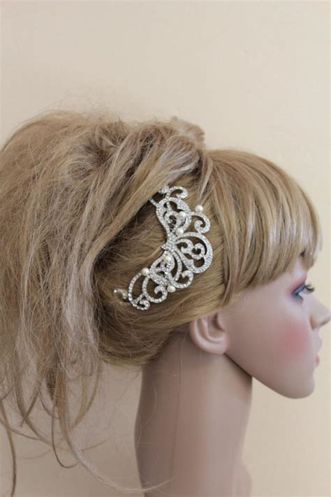 Vintage Inspired Wedding Hair Pieces by Vintage Inspired Wedding Hair Comb Pearl Bridal Hair Comb