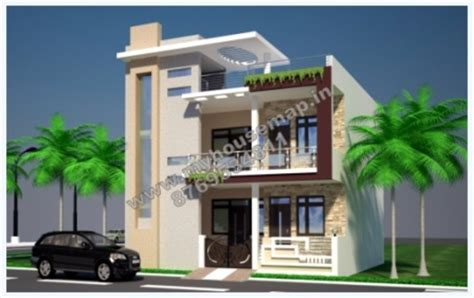 3d front elevation in india house map elevation