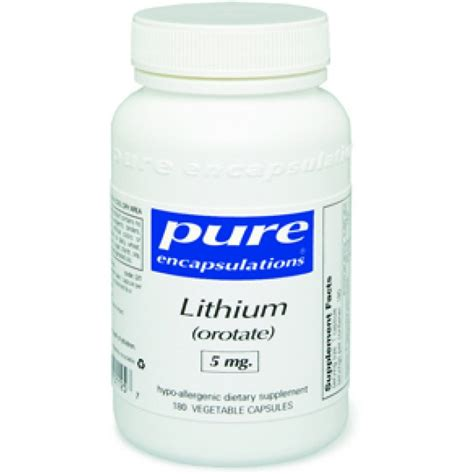 How Does It Take To Detox From Lithium by Encapsulations Lithium Orotate 5 Mg 180 Capsules